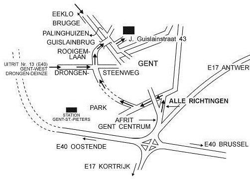 Plannetje eigen vervoer Fracarita Belgium
