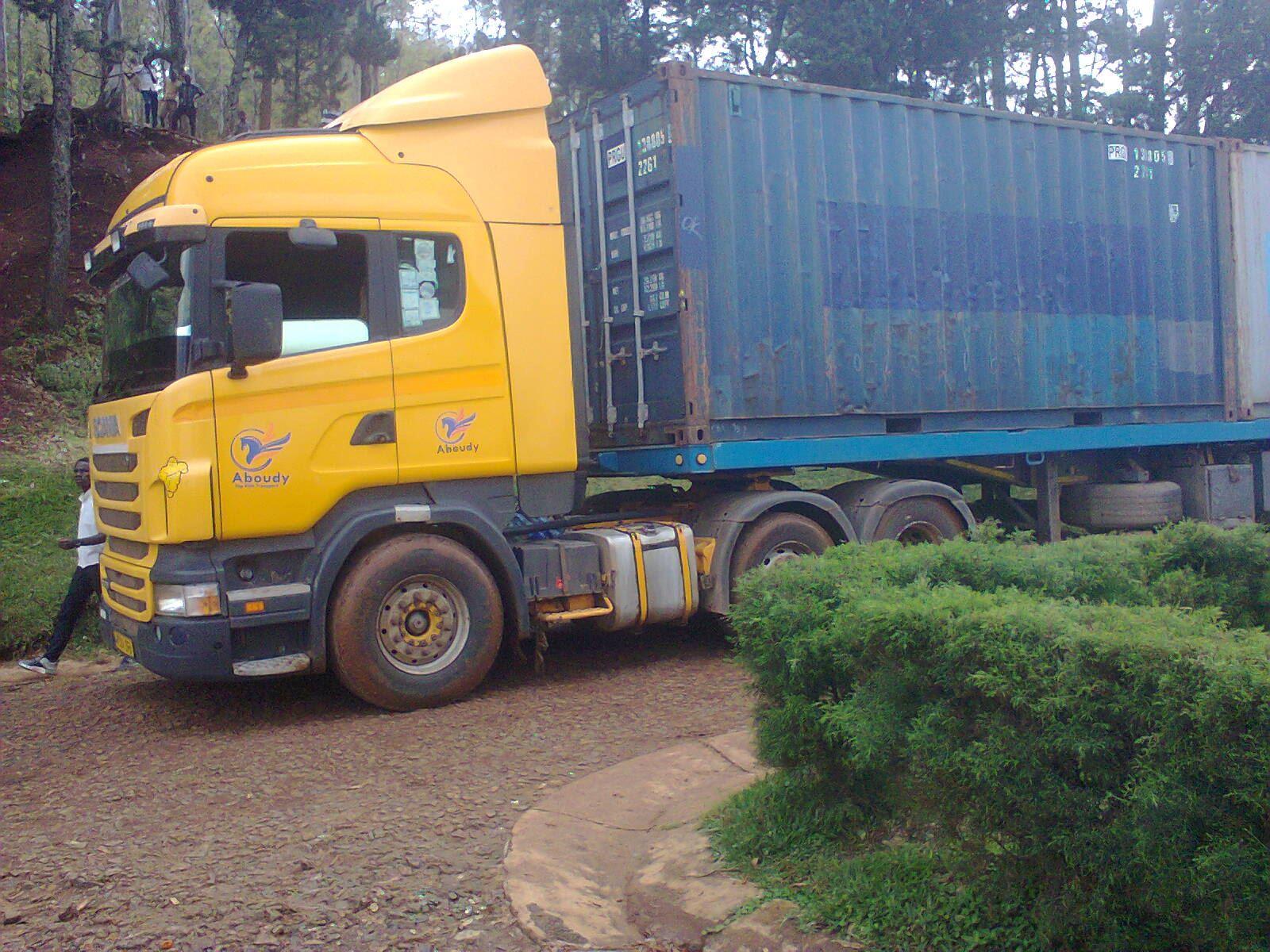 Container met hulpgoederen aangekomen in Bukavu DR Congo