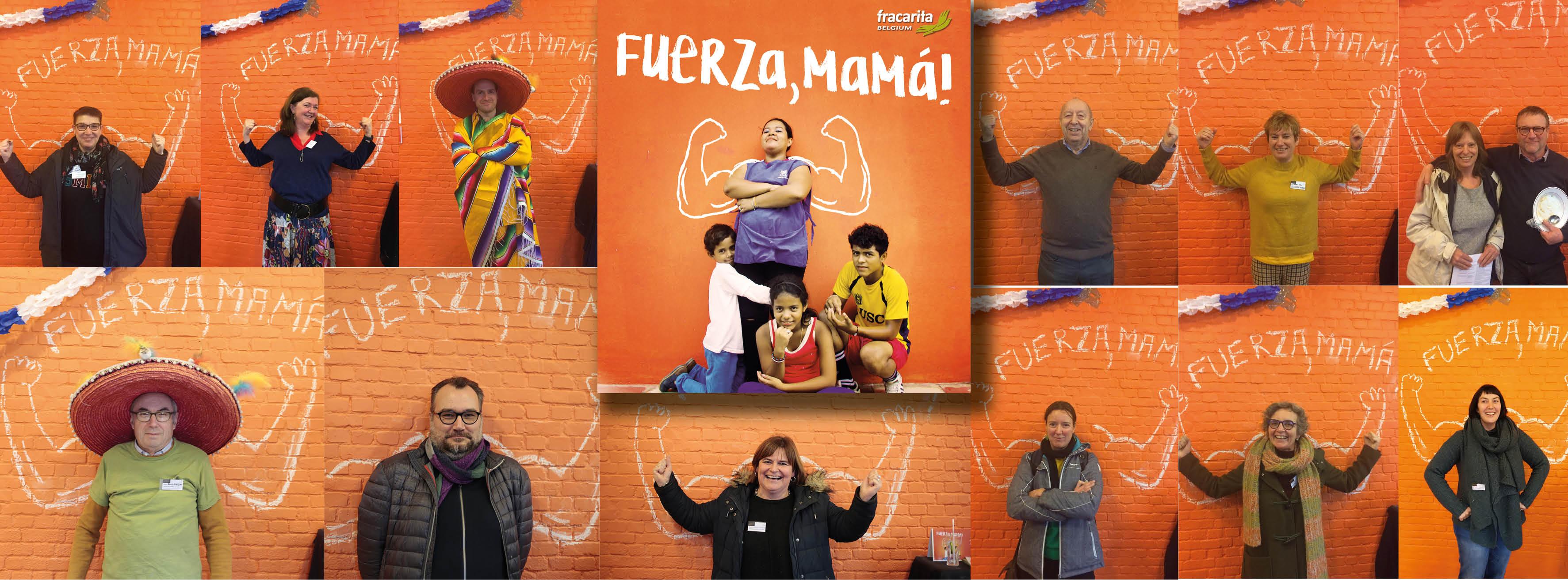 Spierballengerol - Fuerza, Mamá - Zuidactie 2020 - Fracarita Belgium - Affiche - Startdag - Claudia en kinderen