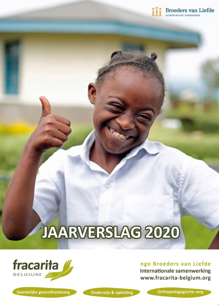 Cover Fracarita Belgium Jaarverslag 2020 - Broeders van Liefde